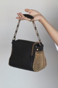 Bauletto Handbag Black-gold