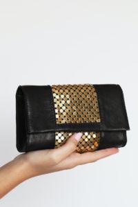 Ilaria Clutch Black-Gold
