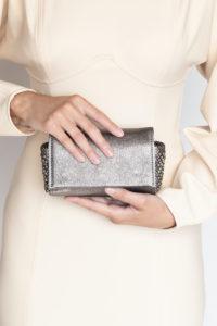 Irina Silver leather-doré