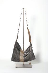 Nedime Pleated Bag back silver doré