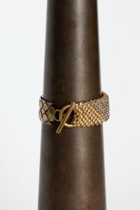 Sareen Bracelet gold-grey clear toggle clasp