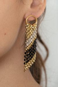 Sasha Earrings Gold-Black