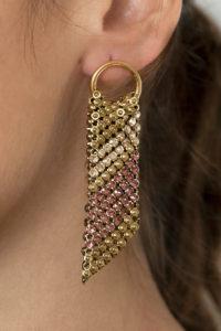 Sasha Earrings Gold-Pink