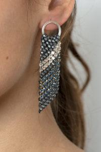 Sasha Earrings Silver-Blue