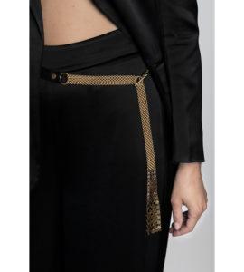 Dominique Belt Black Python Gold