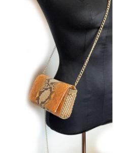 Irina Clutch-Body Bag Orange Python