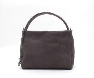 Pauline Pyramid Handbag Grey-Gunmetal