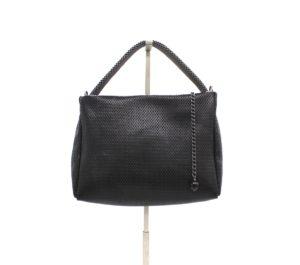 Pauline Pyramid Handbag Black - Gunmetal