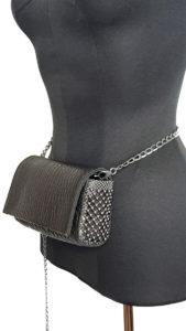 Irina Clutch/Belt/Strap Bag Gunmetal