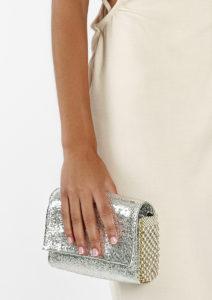 Irina Clutch/Belt/Strap Bag Silver