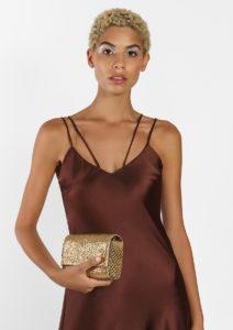 Irina Clutch/Belt/Strap Bag Gold