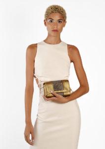 Ilaria Clutch/Belt/Strap Bag Doré