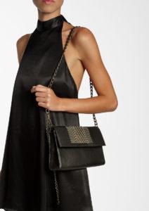 Isabel Flap Shouder Bag Black-Doré